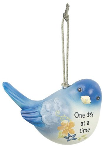 One Day At a Time – Blue Bird Of Happiness Ornament by Ganz