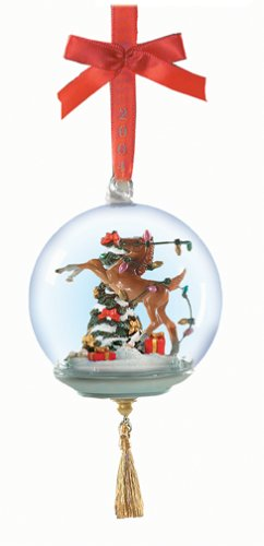 Holiday Mischief Glass Globe Ornament