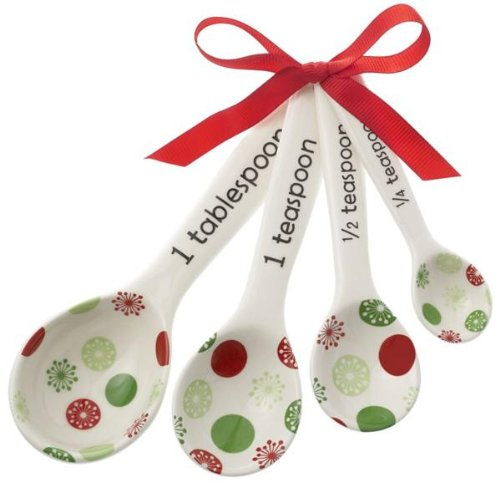 Ganz Measuring Spoons w/Ribbon – Ornaments Gifts Christmas EX22871-GANZ