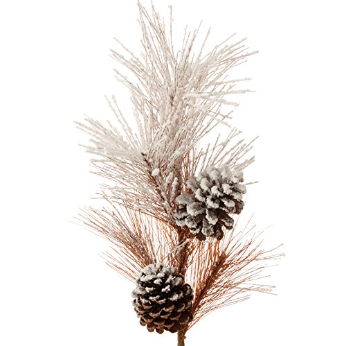 RAZ Imports – Walking in the Woods – 28.5″ Snowy Pine Spray