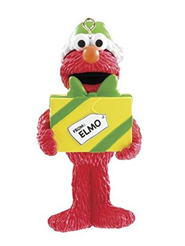 Sesame Street Christmas Ornament Elmo with Gift Holiday Ornament