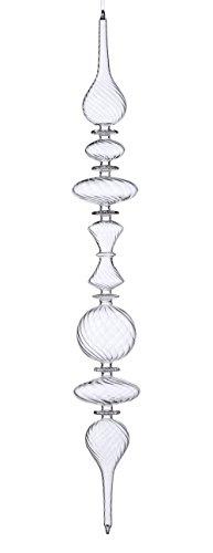 Sage & Co. XAO16696CL 27.5″ Glass Swirl Finial Ornament