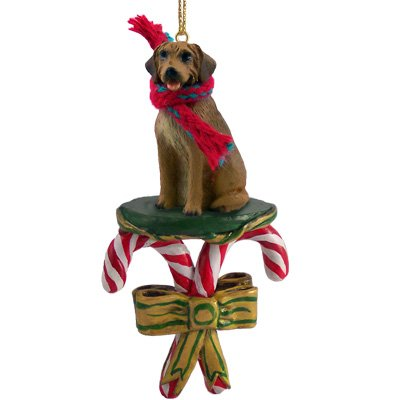 Rhodesian Ridgeback Dog Candy Cane Christmas Holiday Ornament