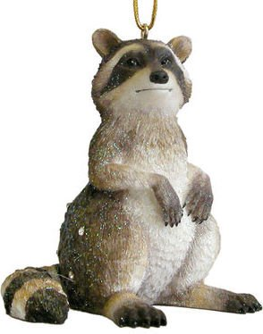 December Diamonds Zoology Collection Racoon Ornament-Rhinestone Studded-Valuable Discontinued Limited Edition!!!