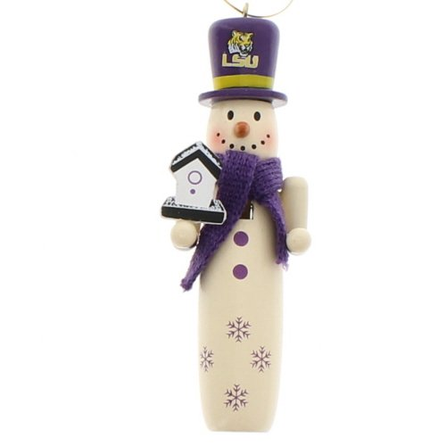 LSU Tigers Snowman Ornament