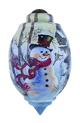 Ne'Qwa Birch Forest Snowman Ornament