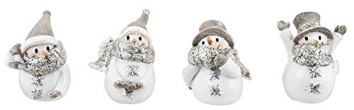 Ganz 1.5″ Miniature Glittered Snowman Figurines – Set of 4 Assorted Styles