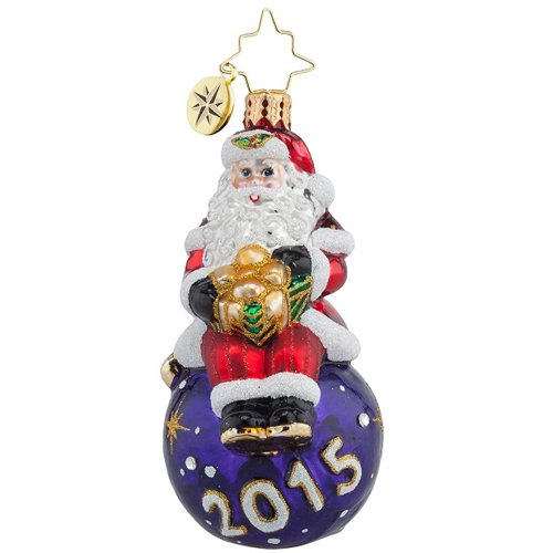 Christopher Radko 2015 A Year for Cheer Santa Claus Gem