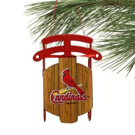 St. Louis Cardinals Metal Sled Ornament