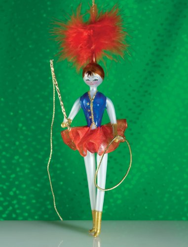 De Carlini Circus Lady Mouthblown Italian Glass Christmas Ornament