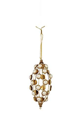 Sage & Co. XAO17310PE 3.5″ Pearl Drop Ornament