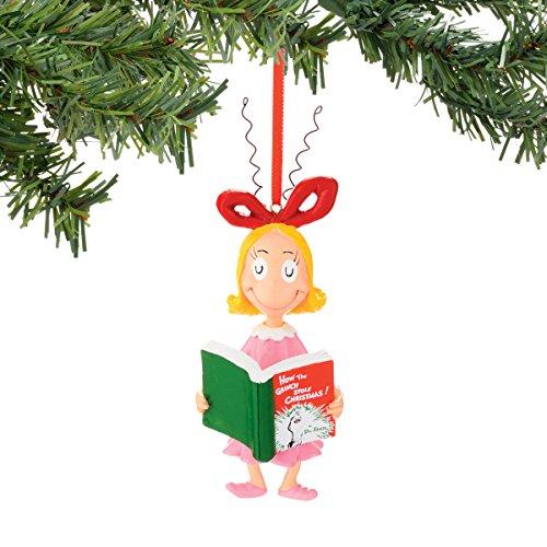 Department 56 Classics Grinch Cindy Reading Ornament