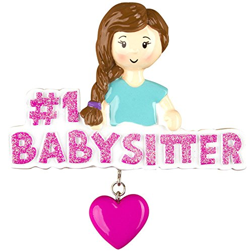 #1 Babysitter Personalized Christmas Tree Ornament