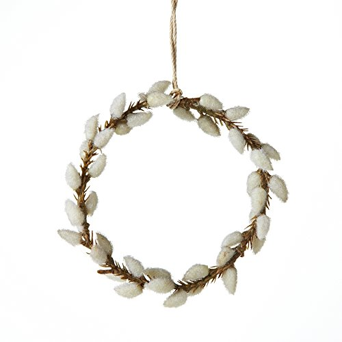 Sage & Co. EAO16517 Pussy Willow Wreath Ornament, 4-Inch