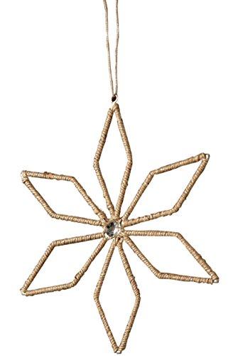 Sage & Co. XAO14530SV Jute Lurex Poinsettia Ornament, 8.5-Inch