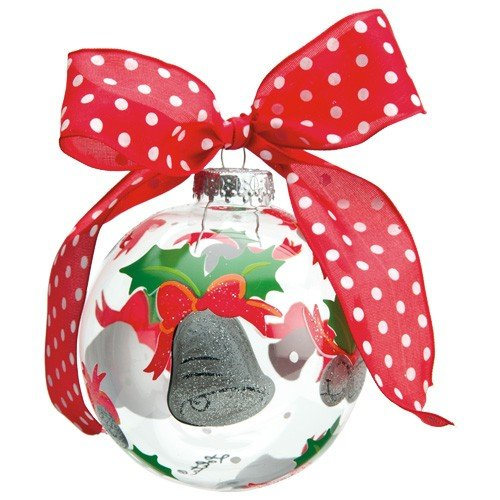 Santa Barbara Design Studio Lolita Holiday Moments Glass Ball Ornament, Silver Bells