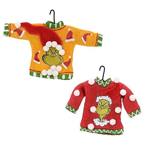Department 56 Grinch Face Sweater Ornament