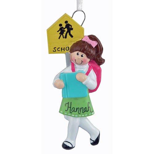 School Girl Ornament