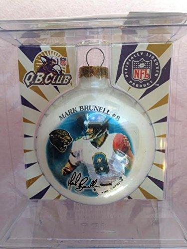 """Jacksonville Jaguars Mark Brunell 2 5/8"""" Painted Round Christmas Tree Ornament"""