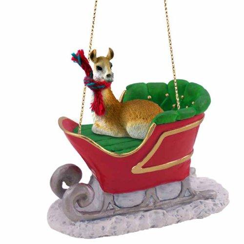 Llama Sleigh Ride Ornament