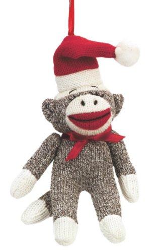 Sock Monkey Santa Claus Ornament Midwest-cbk Set of 3