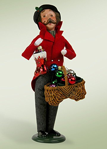 Byers Choice Man With Glass Ornaments