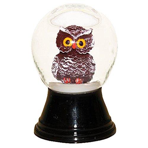 """PR1211 – Perzy Snowglobe, Small Owl – 2.75″""""H x 1.5″""""W x 1.5″""""D"""