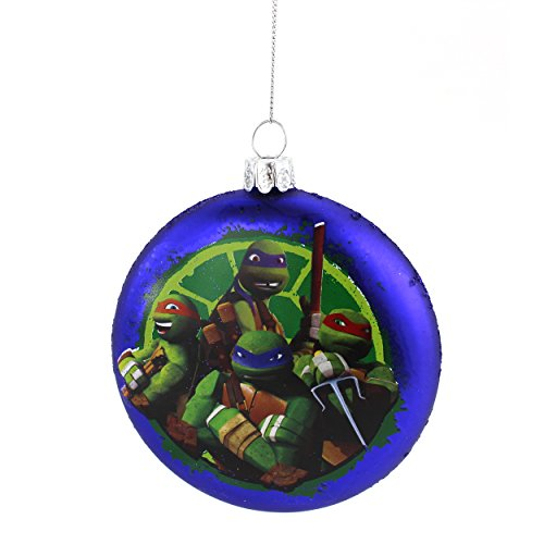 TMNT Ninja Turtles Kurt Adler Glass Ornament Gift Boxed (Blue Turtle Tidings)