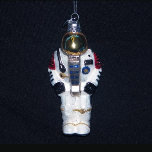 Kurt Adler 4-Inch Noble Gems Glass Astronaut Ornament