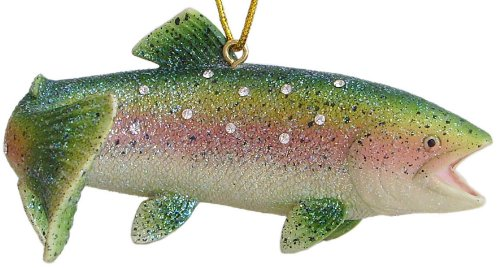 December Diamonds Aquatic Collection Rainbow Trout Ornament -Rhinestones Sparkle!!!Discontinued & will Never be produced again!!!!!