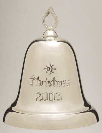 Reed and Barton Annual Christmas Sterling Bell 2003
