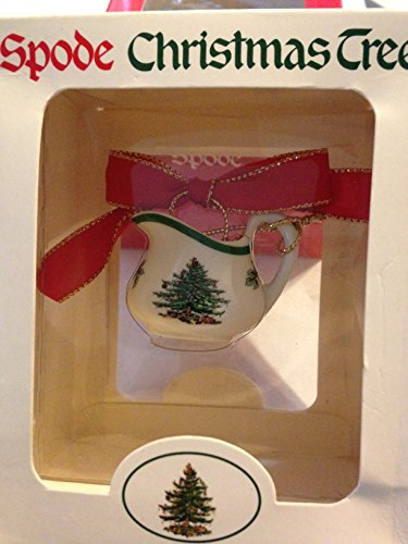 Spode Porcelain Pitcher Tableware Christmas Ornament–NIB!
