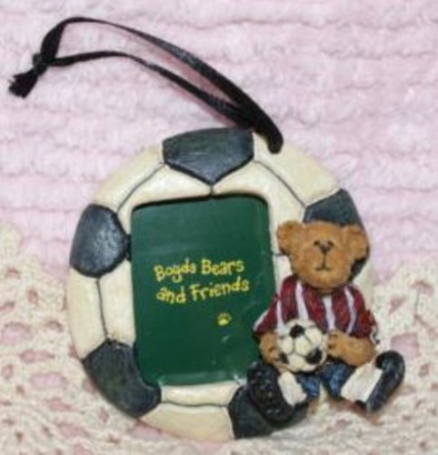 The Boyds Collection Soccer Photo Frame Resin Ornament