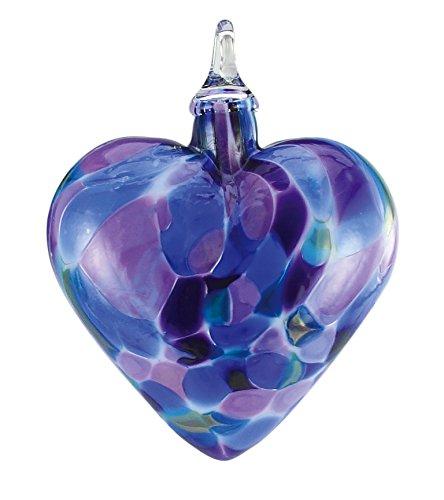 Glass Violet Chip Heart Ornament