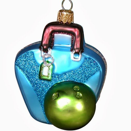Ornaments to Remember: BOWLING BAG (BLUE) Christmas Ornament