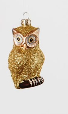 180 Degrees Owl Ornament, Gold