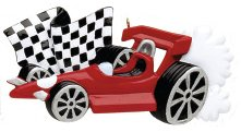 Indy Race Car Personalized Christmas Tree Ornament
