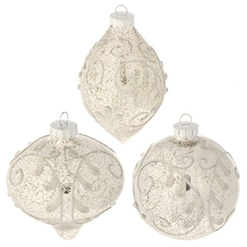 RAZ Imports – 4″ Antiqued Ornaments – Set of 3