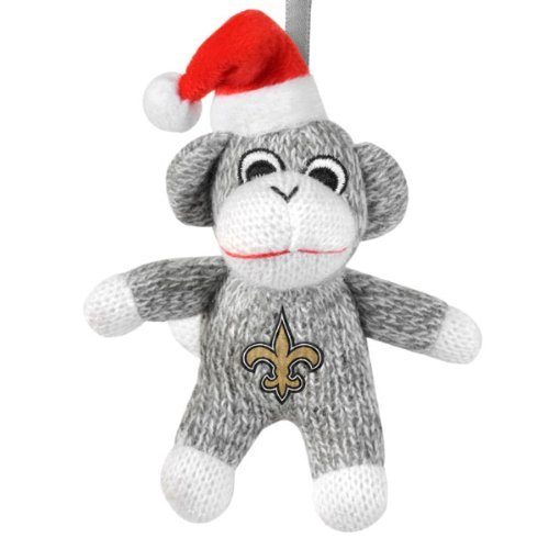 New Orleans Saints Sock Monkey Ornament
