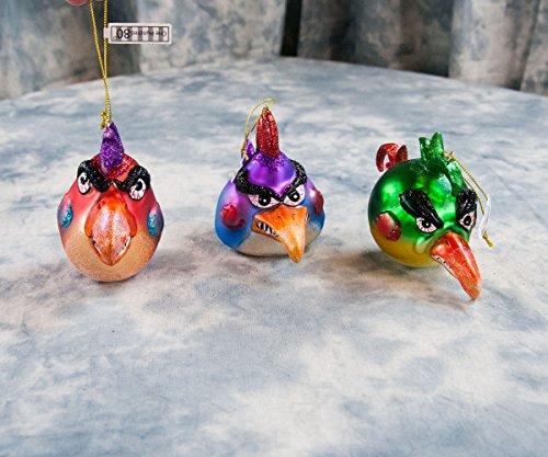 Crazy Birds Ornaments set of 3