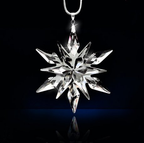 New Annual Edition 2015 Crystal dayling snowflake Ornament car pendant
