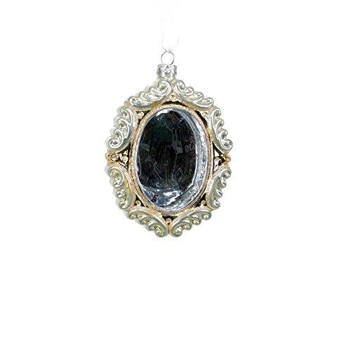 Sage & Co. XAO14606CR Pearl Brooch Glass Ornament, 4.5-Inch