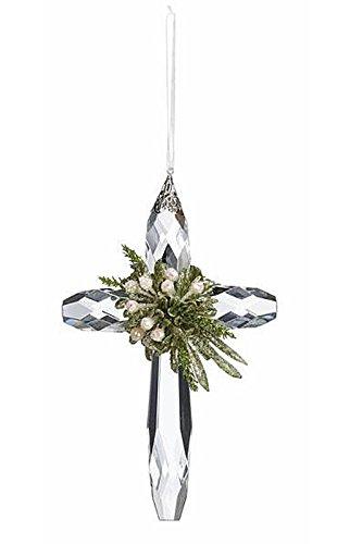 GANZ 7″ Kyrstal Kiss Ball Ornament, Classic Cross – Wedding Acrylic Kissing Crystal-like KK101