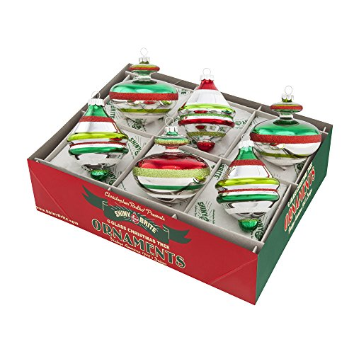 Shiny Brite Holiday Splendor Set of Six 3 Inch Decorated Ornaments
