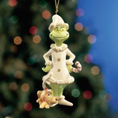 "Lenox China Dr. Seuss's Grinch Ornament ""A Very Grinchy Christmas"""