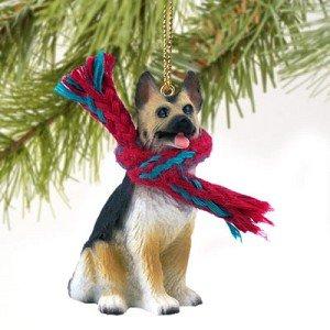 German Shepherd Miniature Dog Ornament – Tan & Black