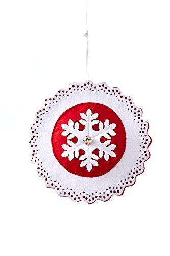 Sage & Co. XAO16193WH 8″ Felt Snowflake Ornament