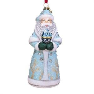 ORNAMENT, RUSSIAN SANTA DESIGN, BLOWN GLASS – Christmas Ornament