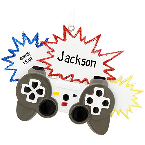 Personalized Christmas Ornament Video Gamer