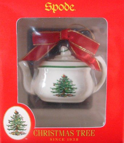 Spode Christmas Tree Holiday Ornament Teapot